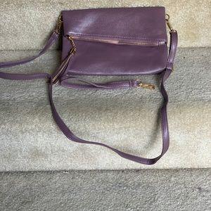 Mauve clutch/satchel purse
